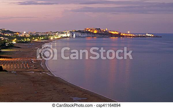 sunset on the beach - csp41164894