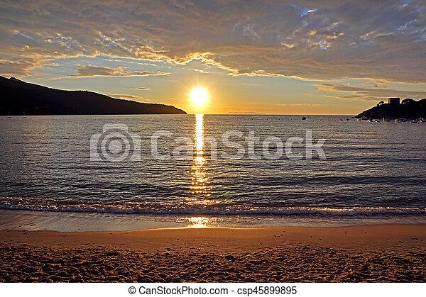 Sunset on the Beach - csp45899895