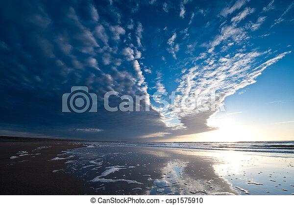 Sunset on the beach - csp1575910