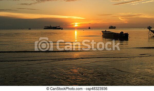 Sunset on the beach - csp48323936