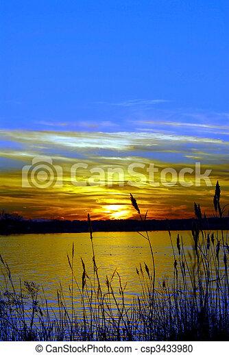 Sunset on the Chesapeake Bay, Maryland - csp3433980