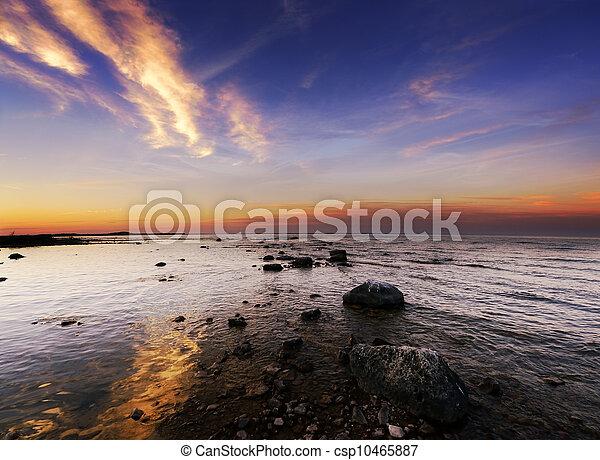 Sunset On The Lake - csp10465887