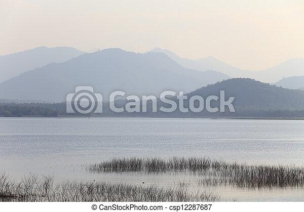 sunset on the lake - csp12287687