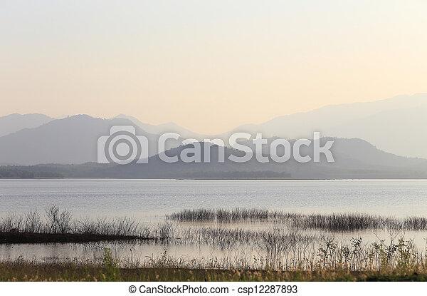 sunset on the lake - csp12287893