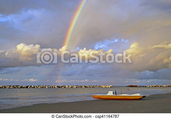 sunset on the sea - csp41164787
