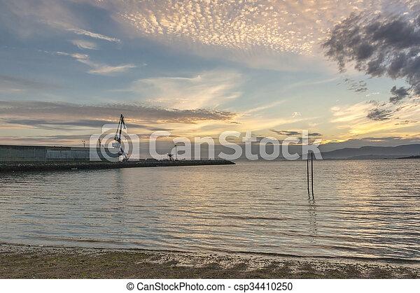 Sunset on the sea - csp34410250