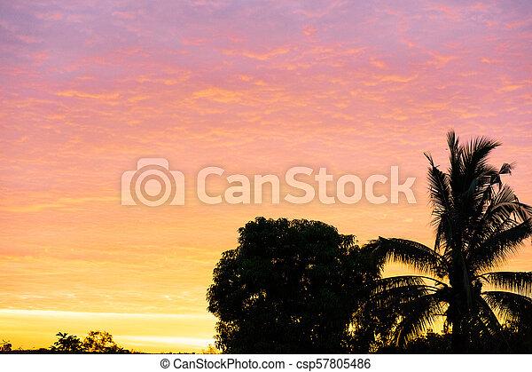 Sunset on to sky light - csp57805486