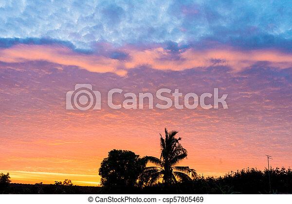 Sunset on to sky light - csp57805469
