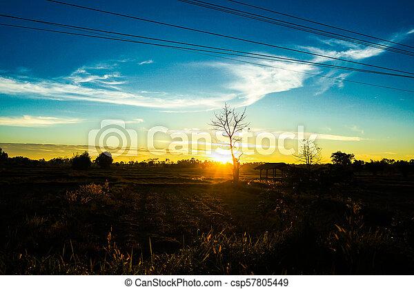 Sunset on to sky light - csp57805449