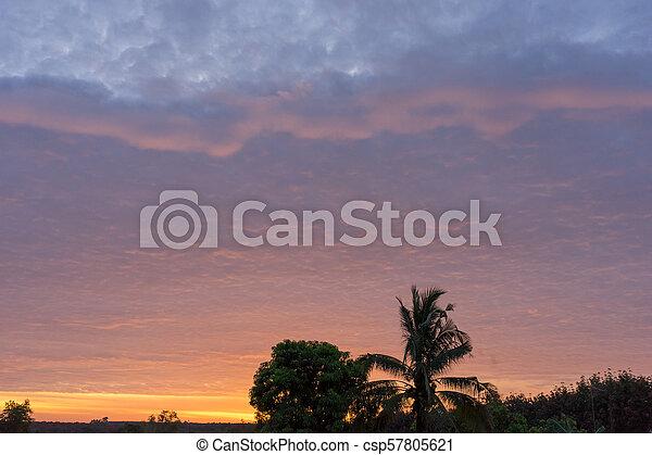 Sunset on to sky light - csp57805621