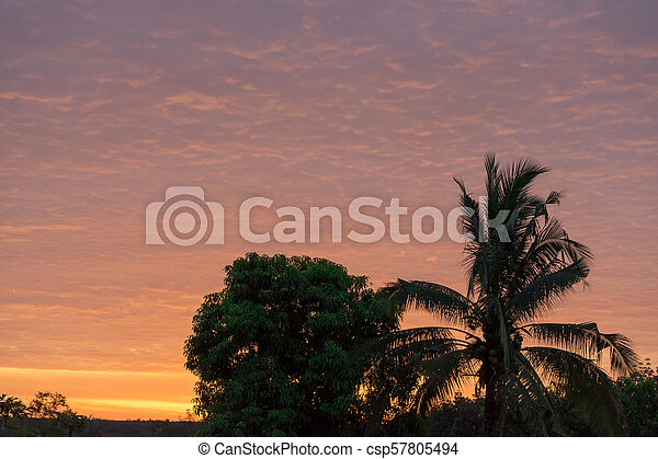 Sunset on to sky light - csp57805494