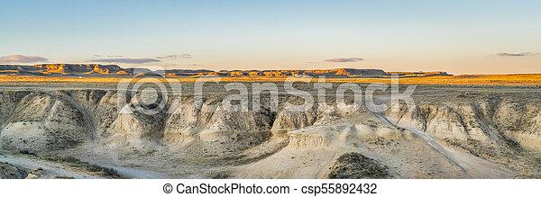 sunset over Colorado prairie - csp55892432