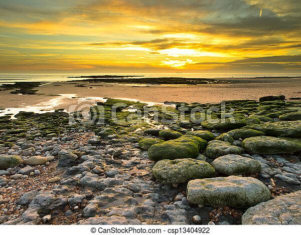 Sunset over Dover street - csp13404922