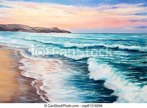 sunset over ocean - csp81316094