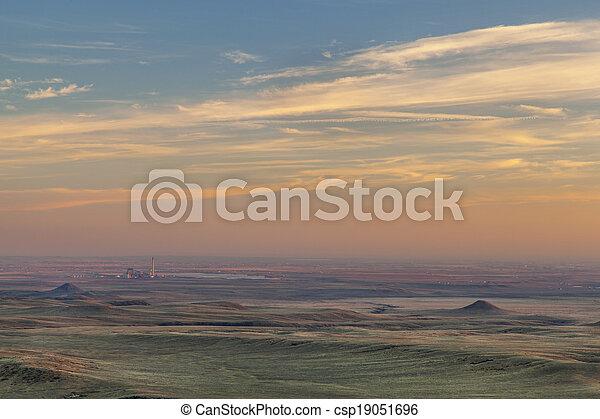 sunset over prairie - csp19051696