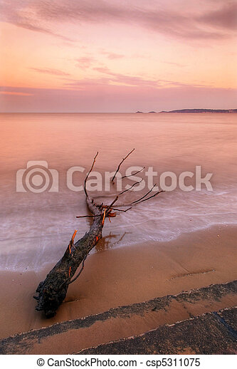 Sunset over Swansea Bay, Wales - csp5311075