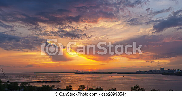 sunset over the bay - csp28938544