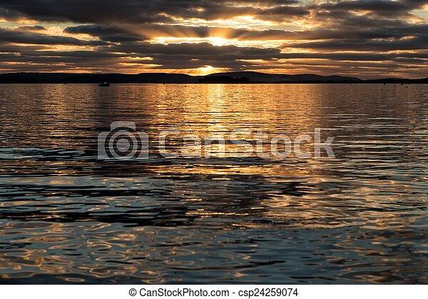 Sunset over the ocean - csp24259074