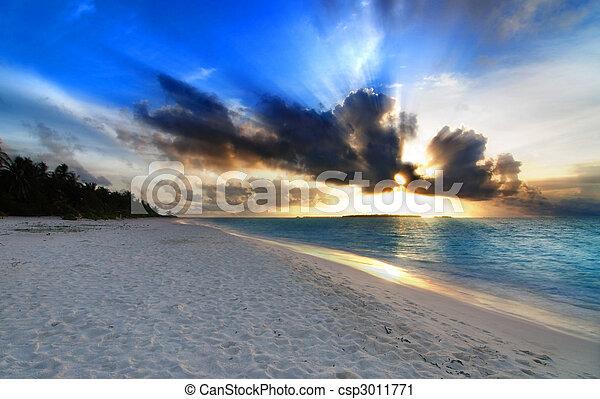 Sunset over the ocean - csp3011771