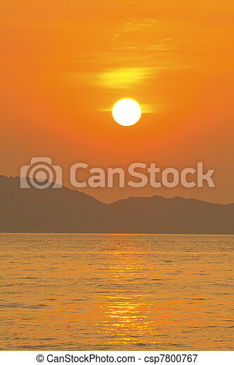 Sunset over the ocean - csp7800767