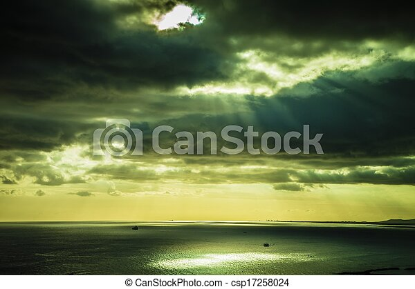 Sunset over the Ocean - csp17258024