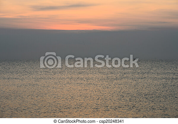 sunset over the ocean - csp20248341