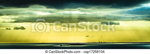 Sunset over the Ocean - csp17258104