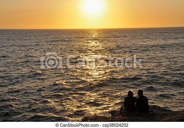Sunset over the Ocean - csp38024202