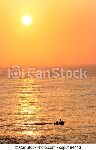 Sunset over the ocean - csp0194413