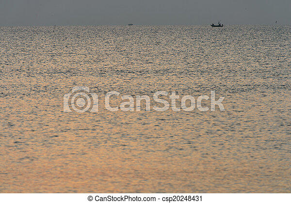 sunset over the ocean - csp20248431