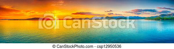 Sunset panorama - csp12950536