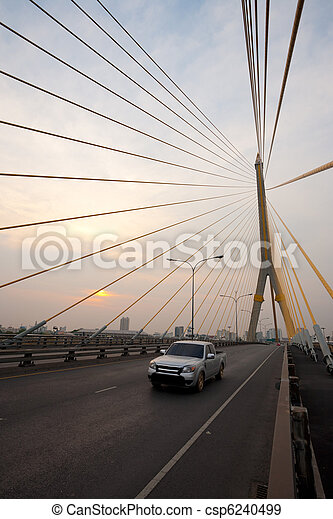 Sunset Rama VIII Bridge Bangkok - csp6240499