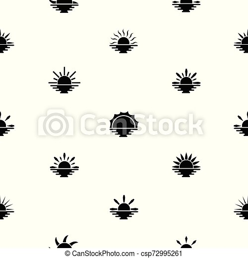 sunset seamless pattern background icon. - csp72995261