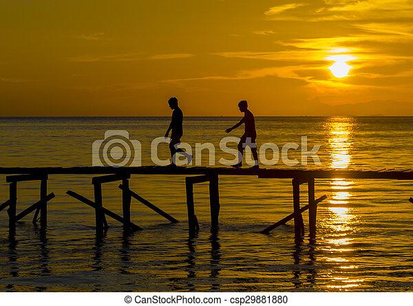 Sunset silhouette - csp29881880