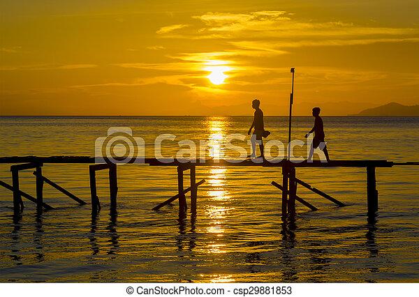 Sunset silhouette - csp29881853