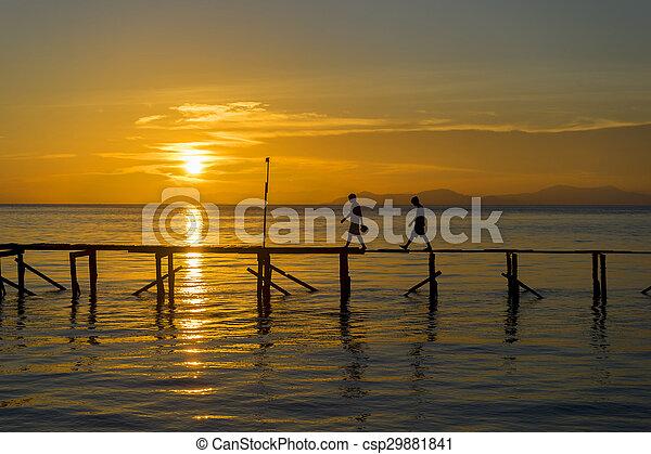 Sunset silhouette - csp29881841