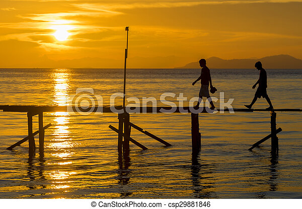 Sunset silhouette - csp29881846