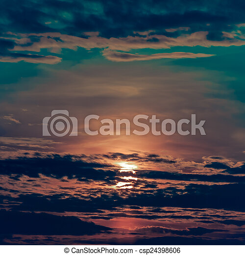Sunset Sky Background - csp24398606