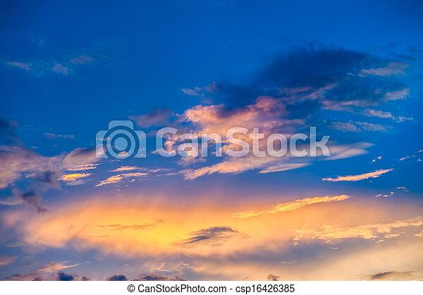 Sunset sky - csp16426385