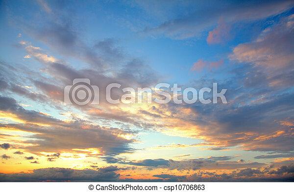 sunset sky - csp10706863