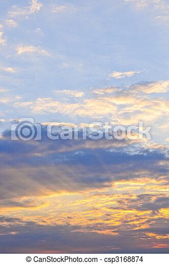 Sunset sky - csp3168874