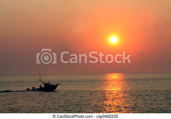 Sunset Speedboat - csp0462235