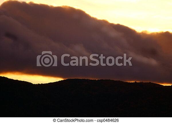 Sunset Storm - csp0484626