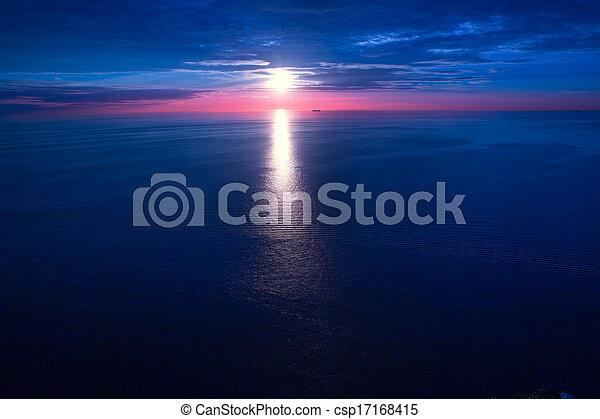 sunset sunrise over Mediterranean sea - csp17168415