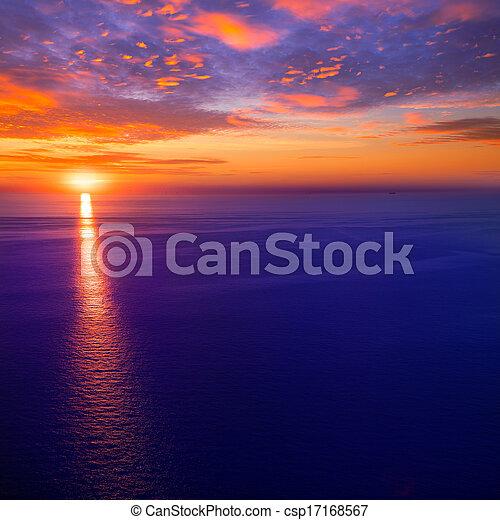 sunset sunrise over Mediterranean sea - csp17168567