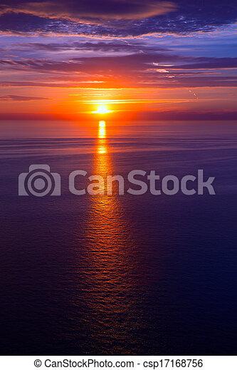 sunset sunrise over Mediterranean sea - csp17168756