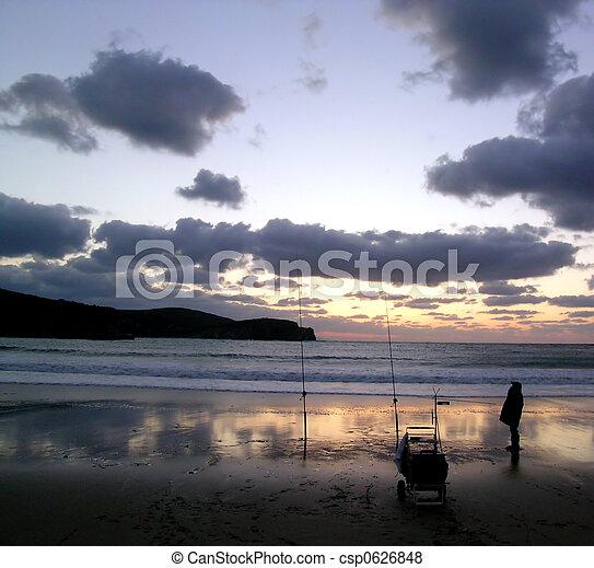 sunset surf - csp0626848