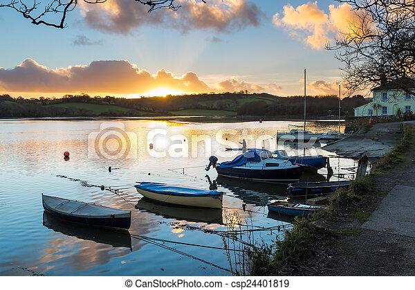 Sunset Truro Cornwall - csp24401819