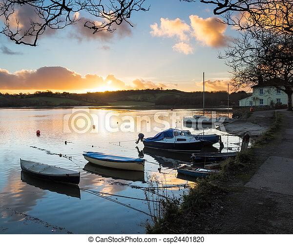 Sunset Truro Cornwall - csp24401820