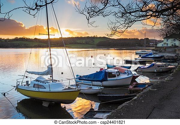 Sunset Truro Cornwall - csp24401821